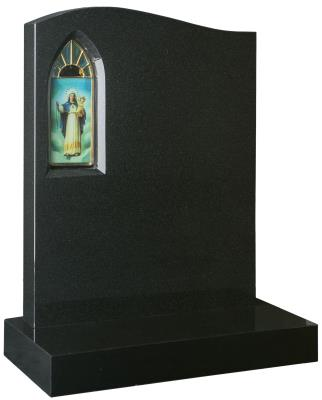 16009 - An alternative shape headstone and stained glass image. One of the many options available.