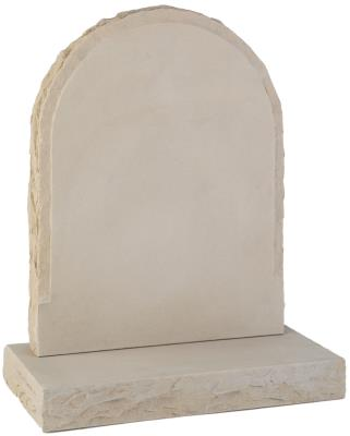 16123 - A pitched margin headstone is complemented by the matching base